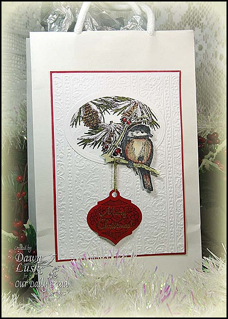 TLC351 Chickadee Christmas Bag