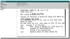 James C. Copeland Death