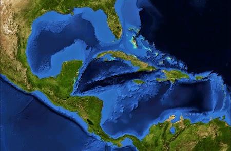 Harta din satelit - America Centrala.jpg