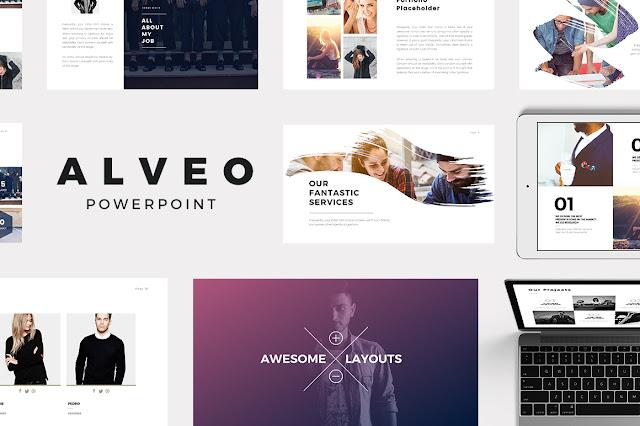 alveo minimal powerpoint template | it love design, Minimal Presentation Template, Presentation templates