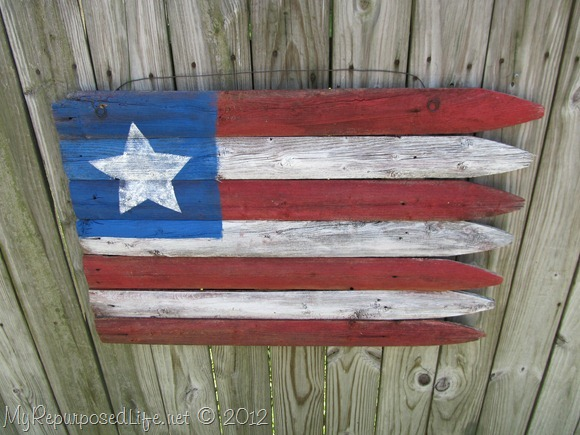 Americana Flag (Repurposed Fence) (28)