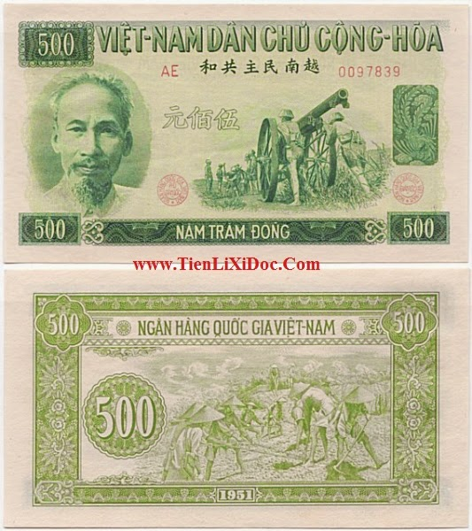 500 Đồng Việt Nam Dân Chủ 1951