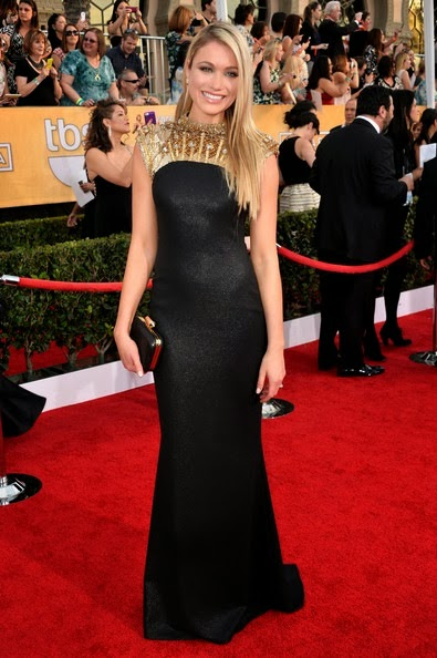 Katrina Bowden attends the 20th Annual Screen Actors Guild Awards