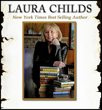 Author Laura Childs visits Thoughts in Progress to promote Scorched Eggs, her latest Cackleberry Club Mystery release