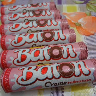 Nosso Baton Creme Morango é um sucesso Vejam o que a querida