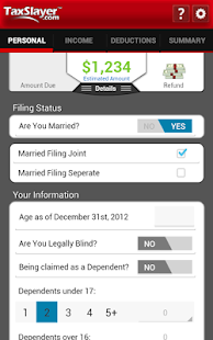 TaxSlayer Refund Calculator - screenshot thumbnail