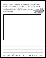 Eek There's a Mouse in the House Reading Response Sheet