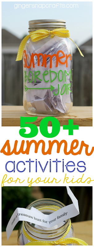50  Summer Activities for Your Kids at GingerSnapCrafts.com #SilhouettePortrait #SilhouetteCAMEO #Silhouette #summer #kidactivities