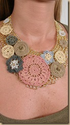 crochet necklace round