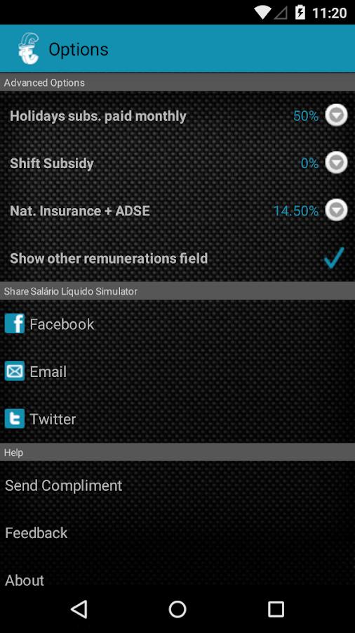 Simulador Salário Líquido- screenshot
