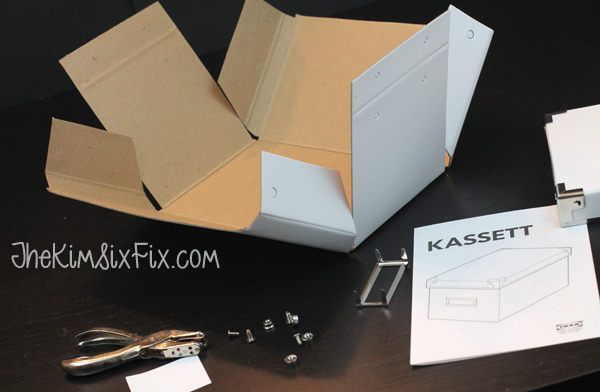 All the parts to Ikea s Kassett Box