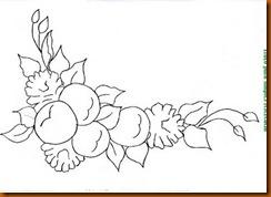 risco de maças e rosas para pintar em tecido