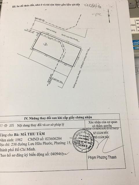 Bán nhà mặt tiền số 238 Lưu Hữu Phước, Phường 15, Quận 8, Tp Hồ Chí Minh 04