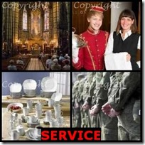 SERVICE- 4 Pics 1 Word Answers 3 Letters