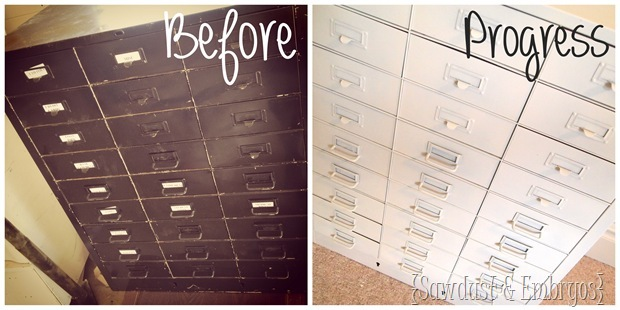apothocary file cabinet {Sawdust and Embryos}
