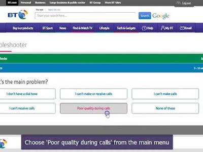Noise on your landline Calls too quiet Report and fix poor quality landline calls online: