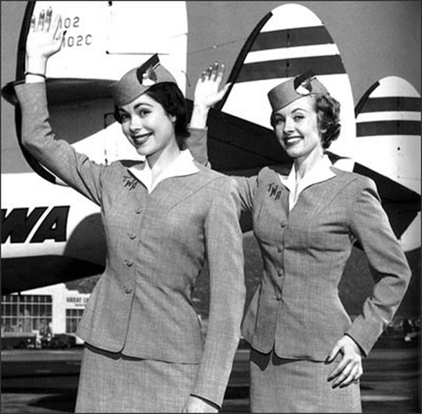 2 flight attendants