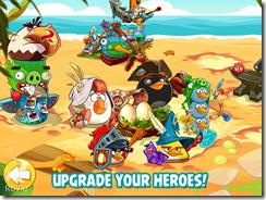 قم بتطوير القوة الهجومية والدفاعية لأبطالك من الطيور الغاضبة بواسطة النقاط
