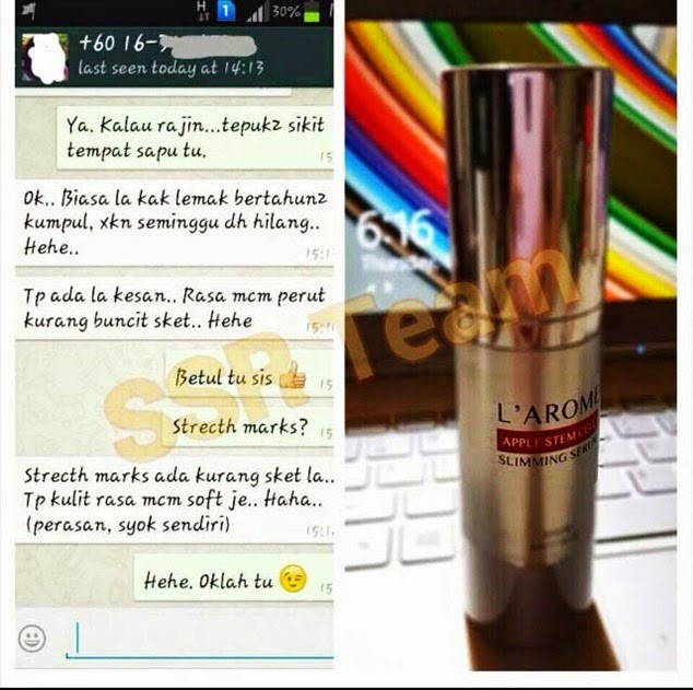 testimoni larome apple stem cell_1