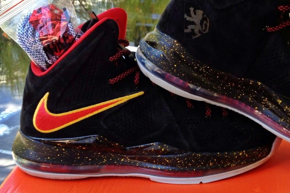 921775c04a5 Nike Sportswear8217s LeBron X EXT 8220Miami Heat8221 Black Suede ...