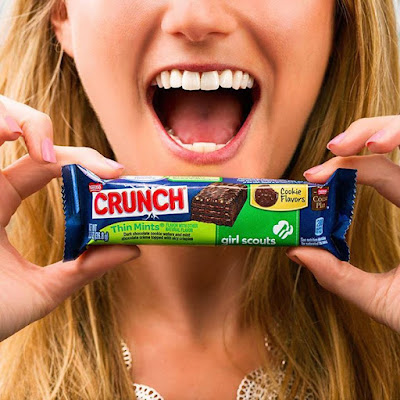 Make your mouth happy with the Girl Scout Cookie TM flavor you