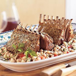 Racks of Lamb with White Beans.