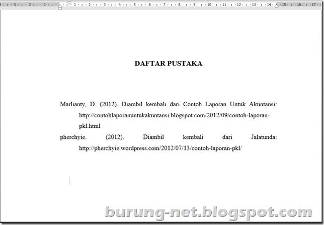 Cara Membuat Daftar Pustaka Otomatis Di Microsoft Word Burung Internet