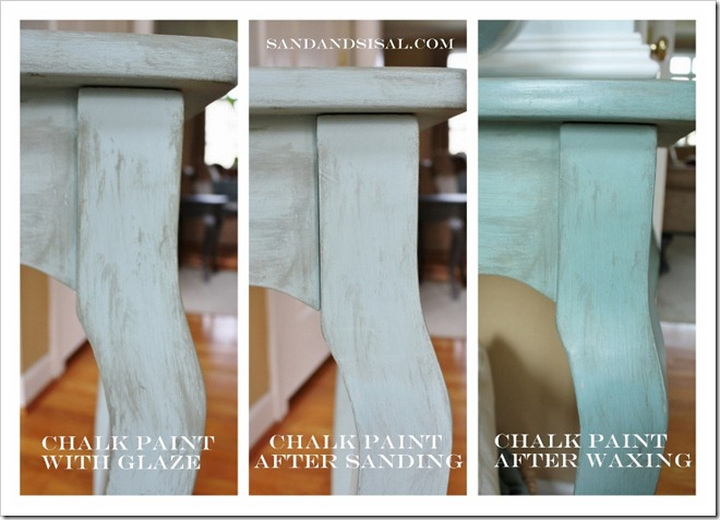 Waxing Chalk Paint On Fabric