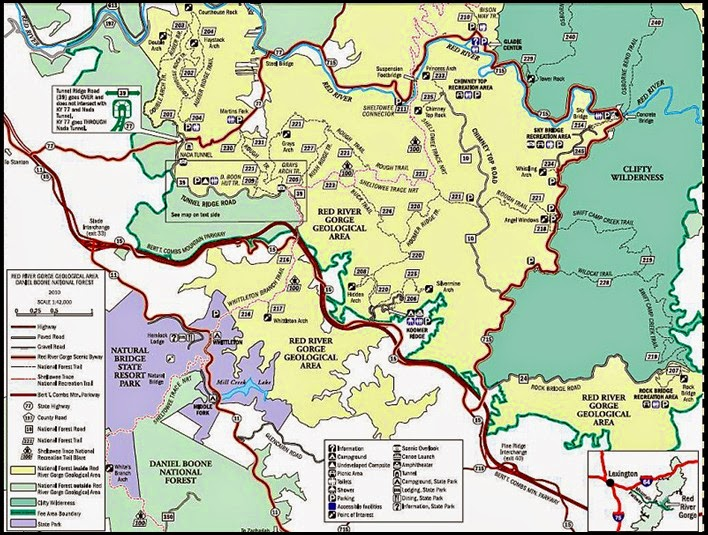 00 - Red River Gorge Geological Area Map