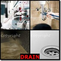 DRAIN- 4 Pics 1 Word Answers 3 Letters