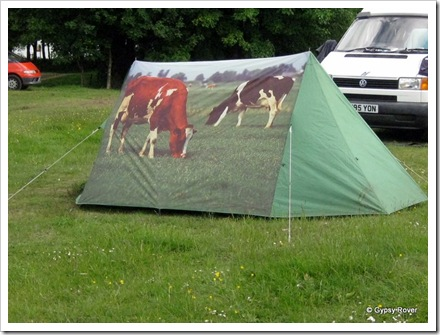Interesting tent spotted at Coniston Hall camping grounds.