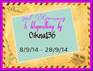 2nd Giveaway & blogwalking by Cikna136