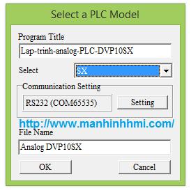Lập trình analog PLC Delta điều khiển biến tần | Màn hình cảm ứng HMI