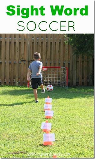 Sight Word Soccer from Coffee Cups and Crayons