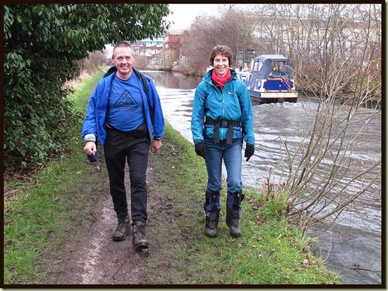 John and Sue on the towpath in Altrincham