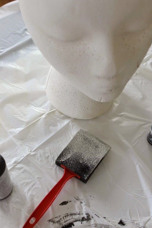 painting a foam head #makeitfuncrafts