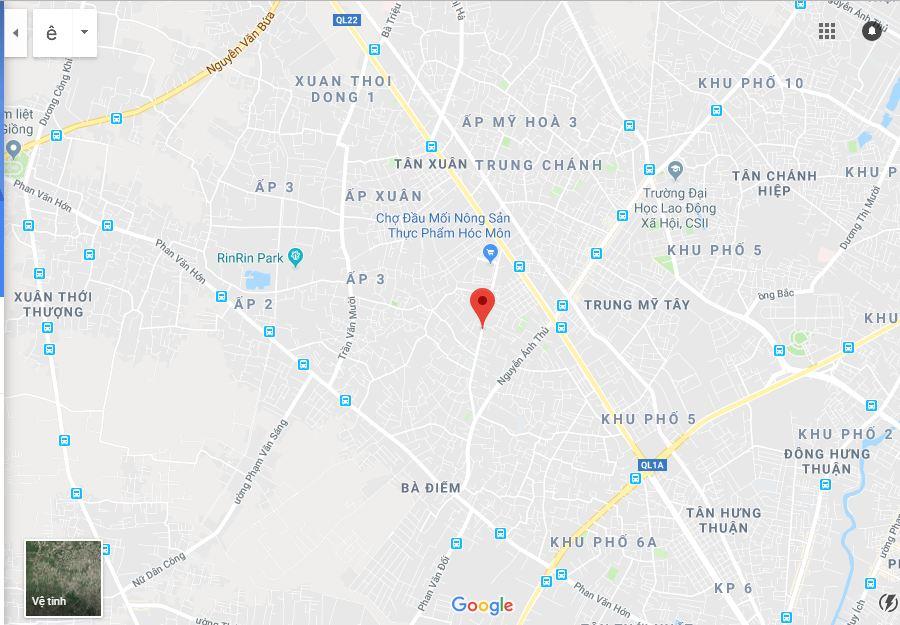 Đất hẻm đường Nguyễn Thị Sóc Huyện Hóc Môn 02