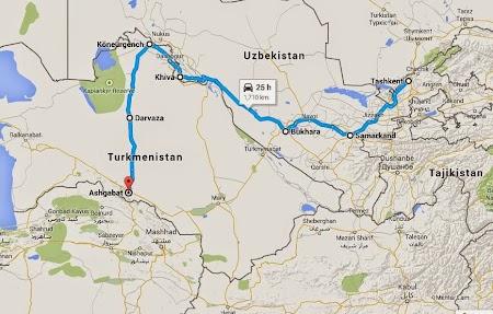 Drumul Matasii de la Tashkent la Ashgabat.JPG