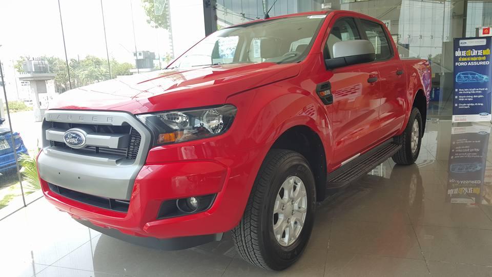 Xe Bán Tải Ford Ranger màu đỏ 01