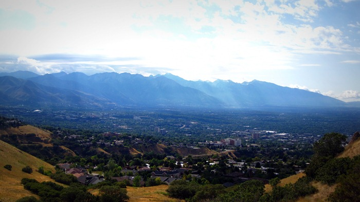 The view from Ensign Peak in Salt Lake City Utah