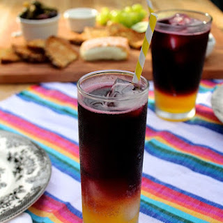 Clementine and Red Wine Spritzers.