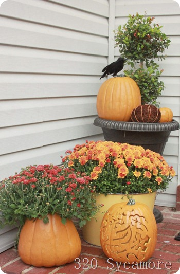 fall autumn front porch 3