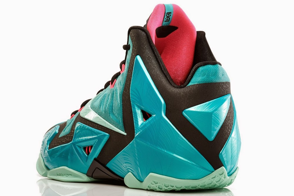 pretty nice c5df1 576e5 616175-330 Sport Turquoise Medium Mint-Black-Pink Flash. NIKE LEBRON 11  South Beach Remixes Past With Present ...