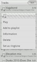 Screenshot of Xplay music player