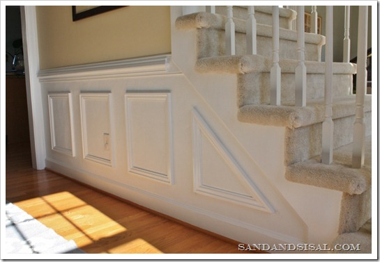 Installing Wainscoting - Sand and Sisal
