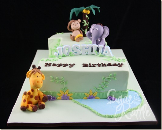 Sugar Rattle S Journey Jungle Theme Number 1 Cake