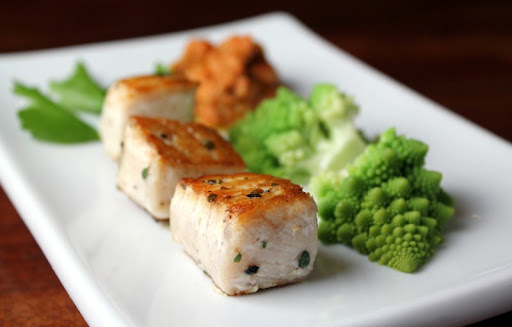 Swordfish with Romanesco and Romesco