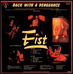 Fist - Back With A Vengeance - Inside