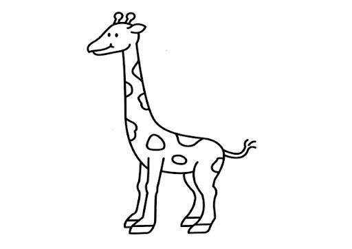 Dibujos Para Colorear Jirafas Infantiles Imagesacolorierwebsite