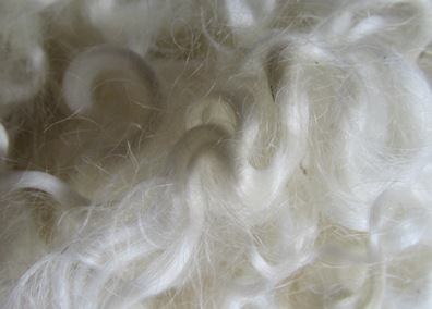 Mohairlocken Detail